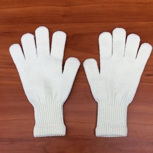 ❄️ Cashmere Puff Yellow Youth Girls Light Gloves